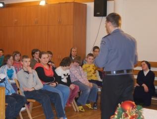Specjalny Ośrodek Wychowawczy - Pogadanka z policjantem